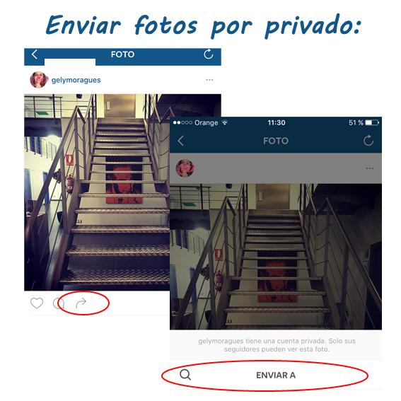 Trucos de Instagram enviar imagen